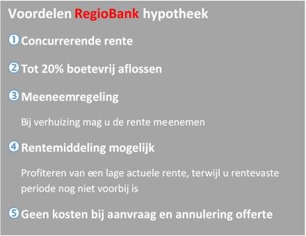 voordelen regiobank hypotheek, hypotheekadviseur Groningen Hoogkerk